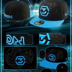 #ISO Tron Legacy fitted hat size 7 3/4 7 7/8, or 8